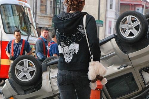 Street fashion trumps wreckage