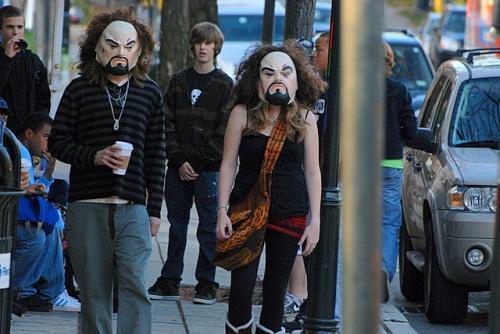 Street toughs, post-Halloween