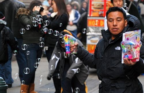 Bubble man, Manhattan