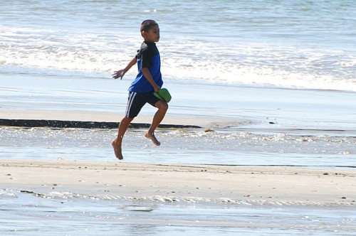 Nicaraguan boy on beach