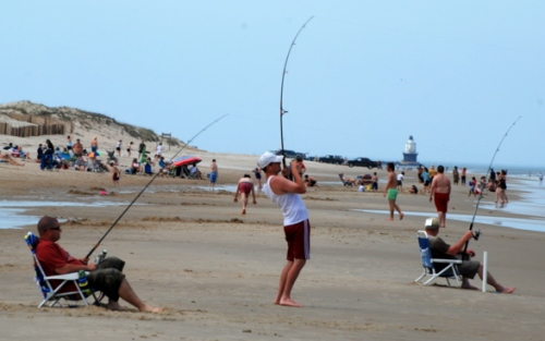 Fishing at Cape Henlopen State Park, Delaware