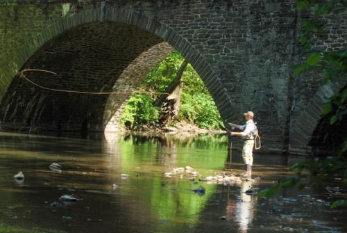 Fly-fisherman, Wissahickon Creek, Philadelphia