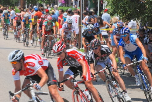 Bike race in Manayunk