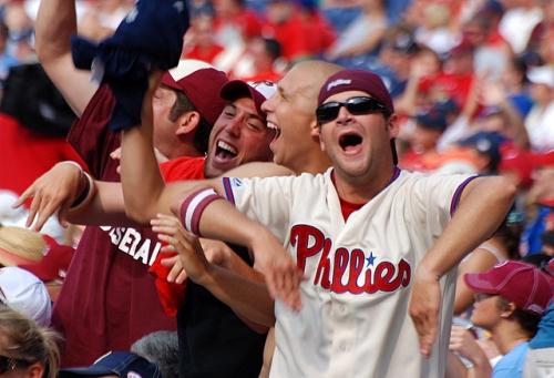 Masters of the bongo cam, Citizens Bank Park, Philadelphia