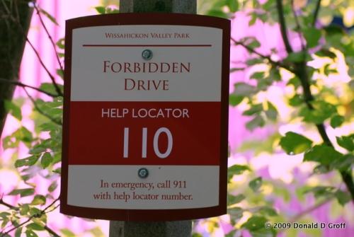 Locator sign, Forbidden Drive, Philadelphia