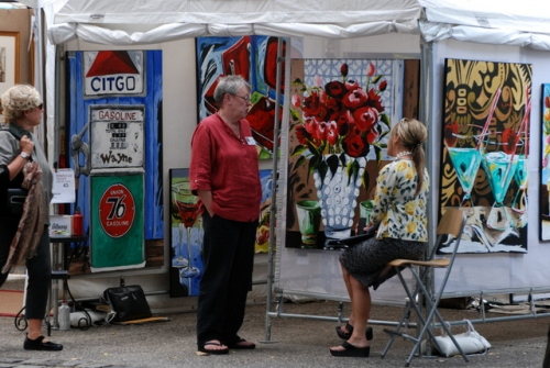 Rittenhouse Square Fine Art Show, Philadelphia, Sept. 18, 2009