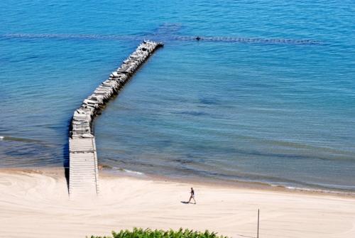 Atwater Park Beach, Shorewood, north of Milwaukee