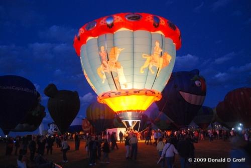 Glowdeo, Balloon Fiesta, Albuquerque