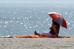 Cape May Point sunbather, April 7, 2010