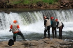Anglers, Wissahickon Creek, opening day 2010, trout