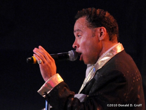 Morris Day at Penn's Landing, Philadelphia, on June 26, 2010