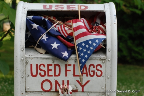 Flags ready to retire