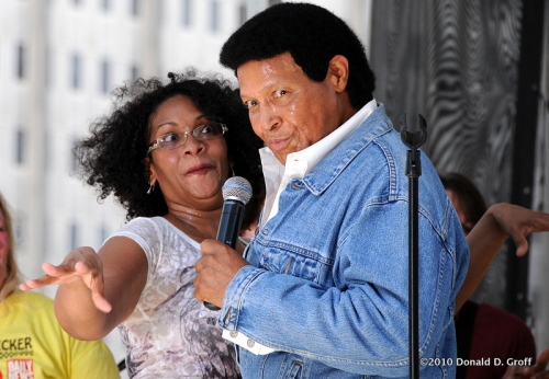 A fan in thrall to Chubby Checker