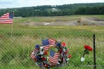 Flight 93 Memorial, with construction underway in August 2010