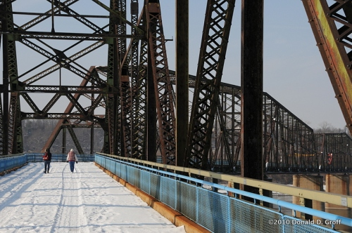 Old Chain of Rocks Bridge across the Mississippi River north of St. Louis