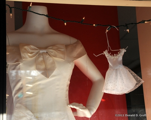 Tiny wedding dress, Narberth, PA