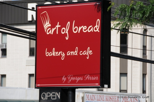 Georges Perrier's Art of Bread sign along Montgomery Avenue, Narberth, Pa.