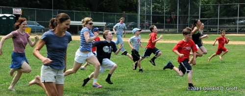 July 4 foot race, Narberth playground