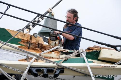 Patrick Flynn takes a chainsaw to a jagged edge on Gazela