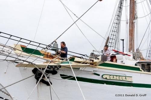 the Gazela, with storm damage