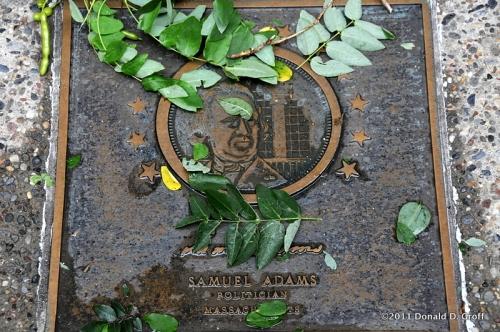 Samuel Adams plaque near Independence Hall