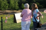 Visitors read about the crash of Flight 93.