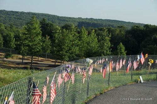 Flight 93 memorial takes shape, Somerset County, PA, July 30, 2011
