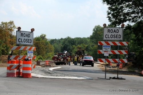 Access road being built from U.S. Route 30 directly to Flight 93 Memorial.