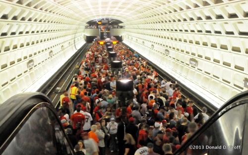 Metro platform packed with departing fans after the Nats 6-3 win over the Reds.